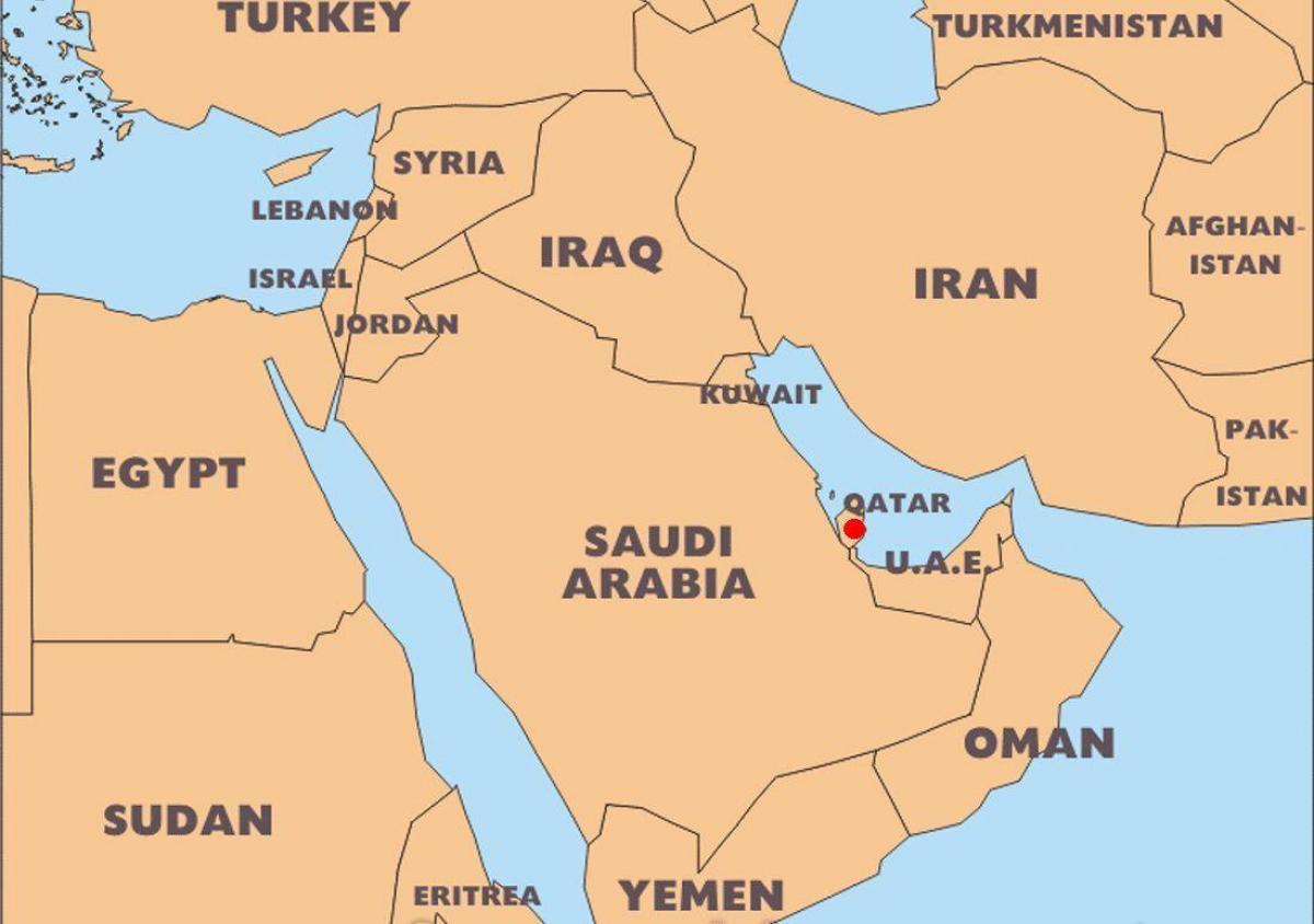 mapa sveta katar Katar krajine mapa   Katar krajiny, v mape sveta (Západná Ázia Ázia) mapa sveta katar